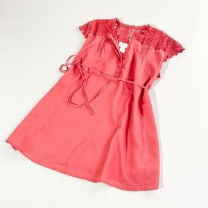 Two hearts maternity lace top